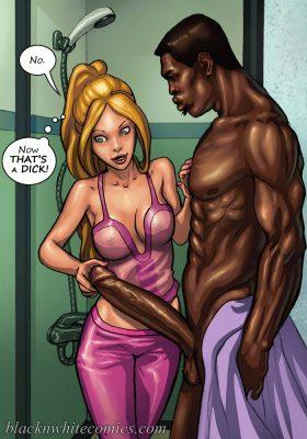 BlacknWhite comics, interracial big cock porn comics