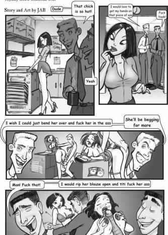 Blow Back, Jab comics, blowjob, slut
